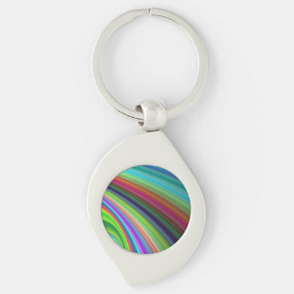 Vividness Silver-Colored Swirl Keychain