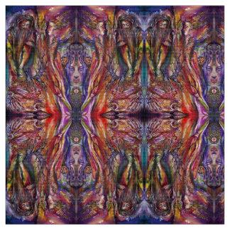 VIVIEN AND MERLIN Pink Purple Blue Fantasy Fabric