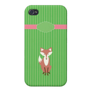 Vixen Green Stripe Case For iPhone 4