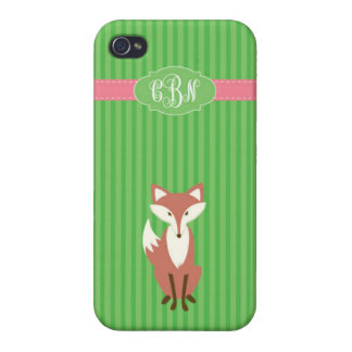 Vixen Green Stripe - iPhone4- Chantel Cases For iPhone 4
