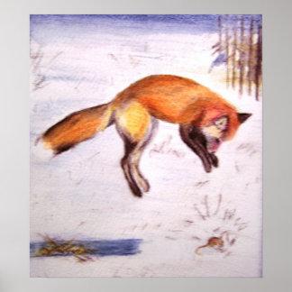 Vixen on the Hunt Print