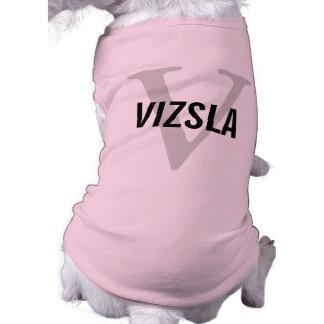 Vizsla Breed Monogram Design Dog Tshirt