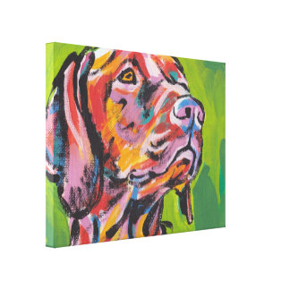 Vizsla Bright Colorful Pop Dog Art Canvas Print