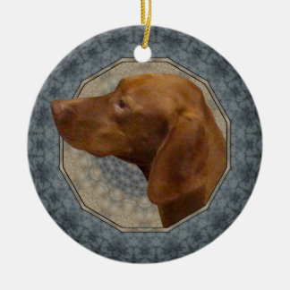 Vizsla Ceramic Ornament
