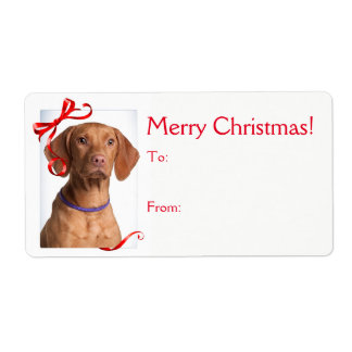 Vizsla Christmas Gift Stickers