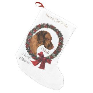 Vizsla Christmas Small Christmas Stocking