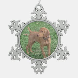 Vizsla Christmas Snowflake Ornament