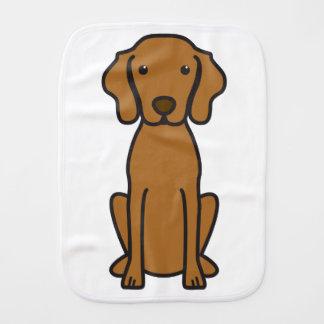 Vizsla Dog Cartoon Burp Cloths