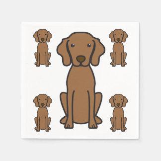 Vizsla Dog Cartoon Disposable Napkin