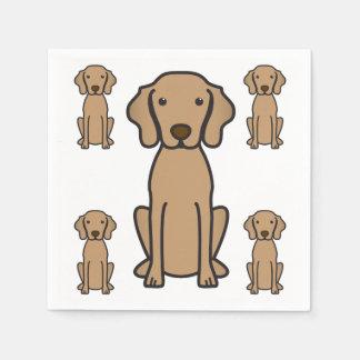 Vizsla Dog Cartoon Disposable Napkins