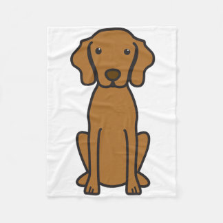 Vizsla Dog Cartoon Fleece Blanket