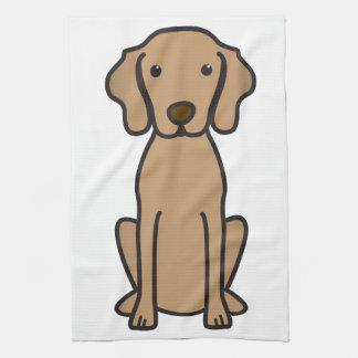 Vizsla Dog Cartoon Hand Towel