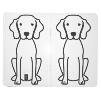 Vizsla Dog Cartoon Journals