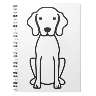 Vizsla Dog Cartoon Note Book