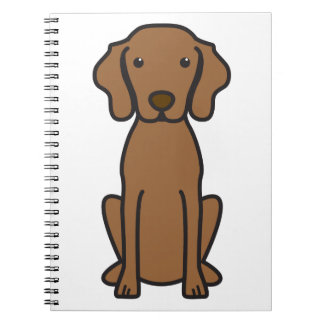 Vizsla Dog Cartoon Notebook