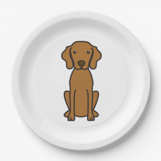 Vizsla Dog Cartoon Paper Plate