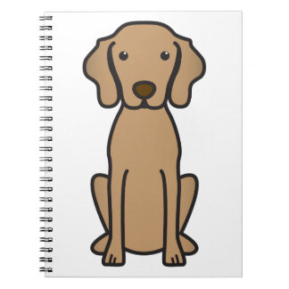 Vizsla Dog Cartoon Spiral Notebook