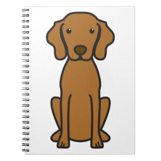 Vizsla Dog Cartoon Spiral Notebooks