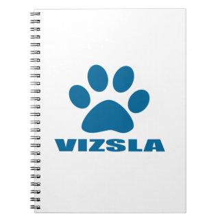 VIZSLA DOG DESIGNS SPIRAL NOTEBOOK