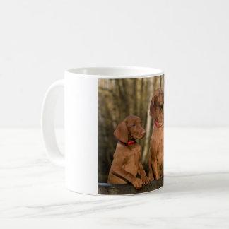 vizsla group coffee mug
