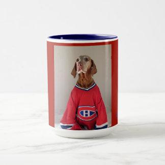 Vizsla Montreal Canadians Hockey Coffee Mug