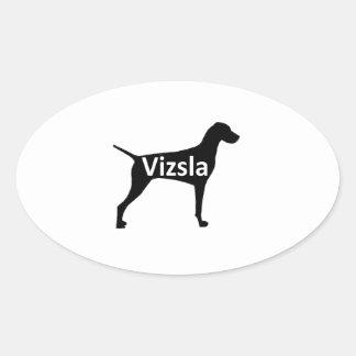 Vizsla name silo black.png oval sticker