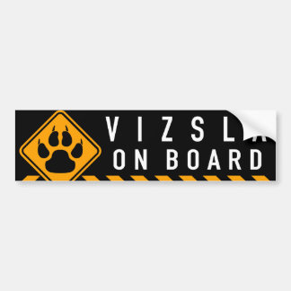 Vizsla On Board Bumper Sticker