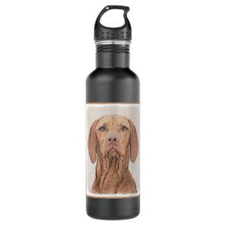 Vizsla Painting - Cute Original Dog Art 710 Ml Water Bottle
