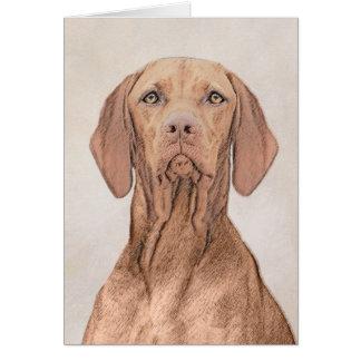 Vizsla Painting - Cute Original Dog Art Card