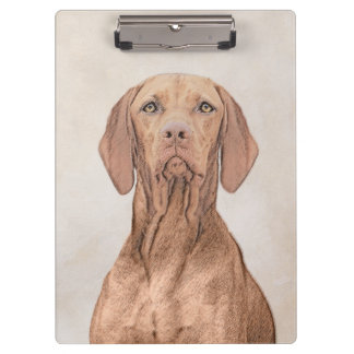 Vizsla Painting - Cute Original Dog Art Clipboard