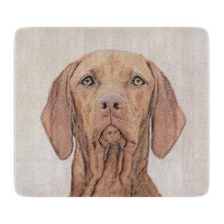 Vizsla Painting - Cute Original Dog Art Cutting Board