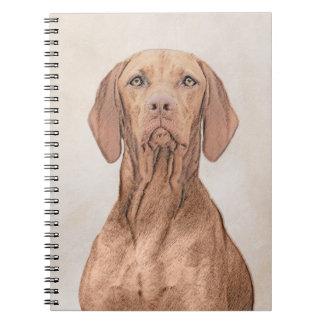 Vizsla Painting - Cute Original Dog Art Notebooks