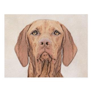 Vizsla Painting - Cute Original Dog Art Postcard
