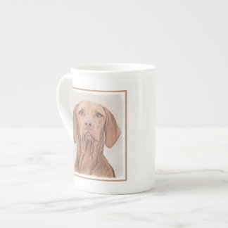 Vizsla Painting - Cute Original Dog Art Tea Cup