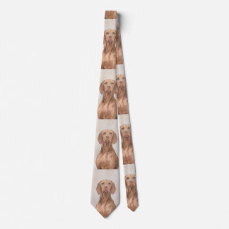 Vizsla Painting - Cute Original Dog Art Tie