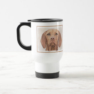 Vizsla Painting - Cute Original Dog Art Travel Mug