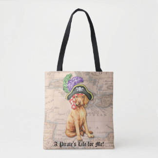 Vizsla Pirate Tote Bag