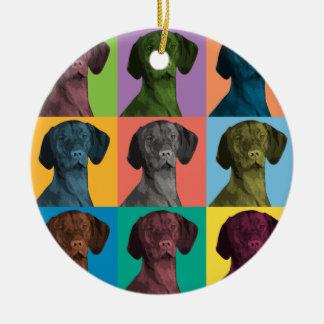 Vizsla Pop-Art Ornament