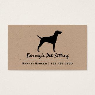 Vizsla Silhouette Business Card