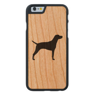 Vizsla Silhouette Carved® Cherry iPhone 6 Case