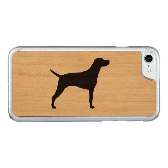 Vizsla Silhouette Carved iPhone 8/7 Case