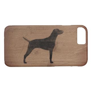 Vizsla Silhouette Rustic Case-Mate iPhone Case