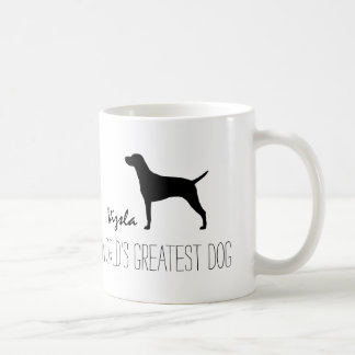 Vizsla Silhouette World's Greatest Dog Coffee Mug