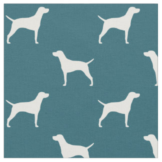 Vizsla Silhouettes Pattern Fabric