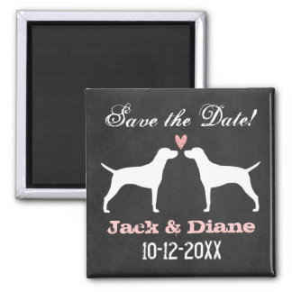 Vizsla Silhouettes Wedding Save the Date Magnet