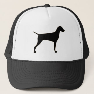 Vizsla silo black.png trucker hat