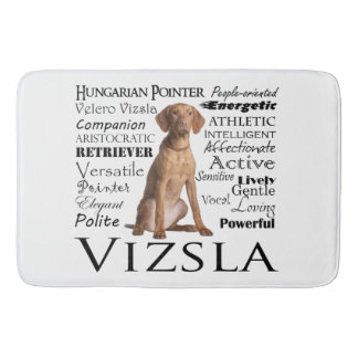 Vizsla Traits Bath Mat
