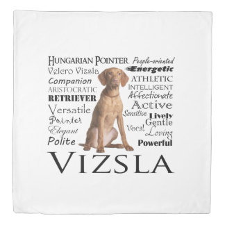 Vizsla Traits Duvet Cover