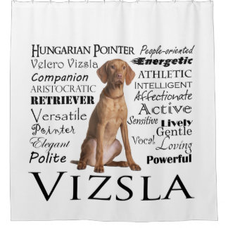 Vizsla Traits Shower Curtain