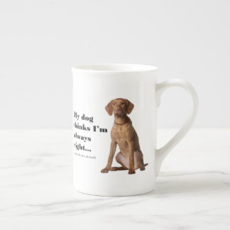 Vizsla v Wife Bone China Mug